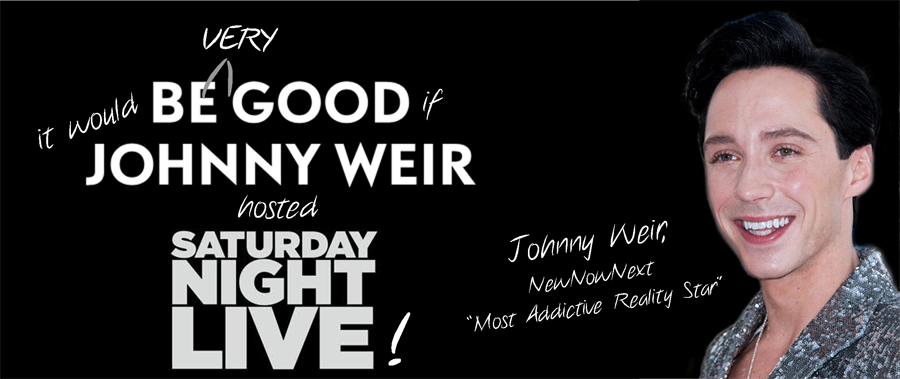Johnny Weir to Host SNL! (Yes Please)