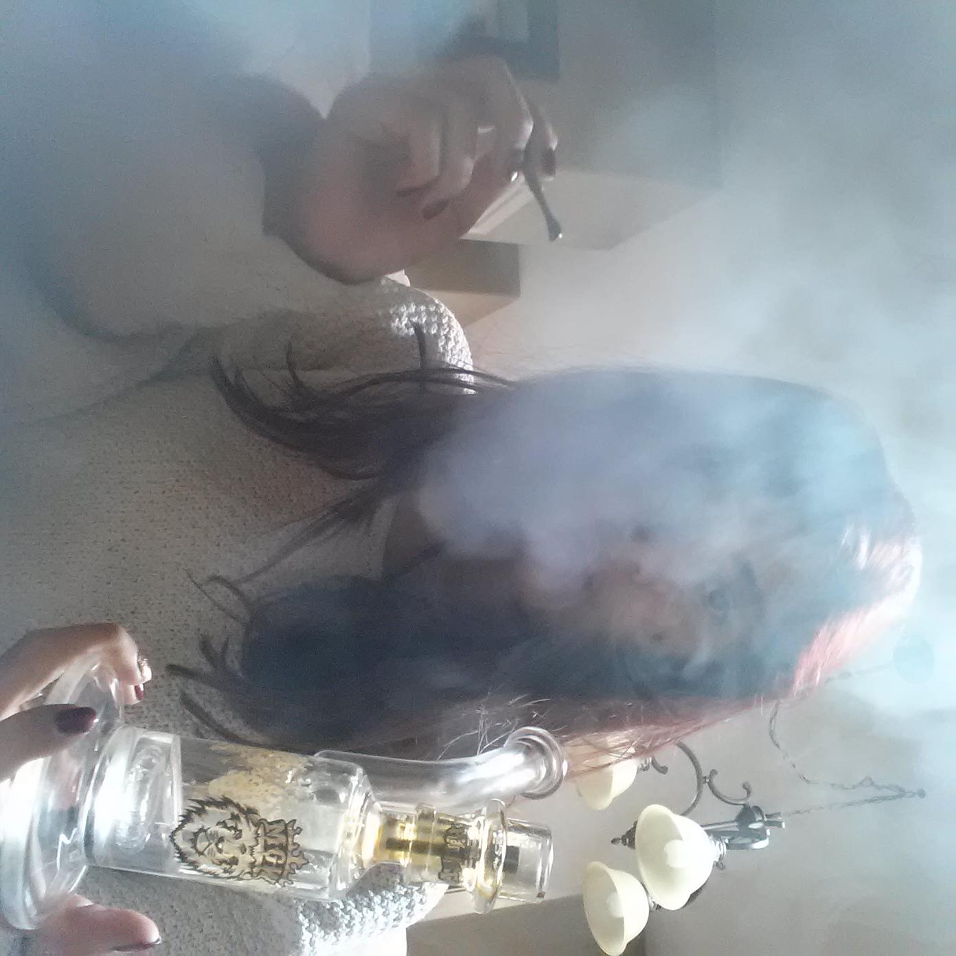 Room full of weed smoke