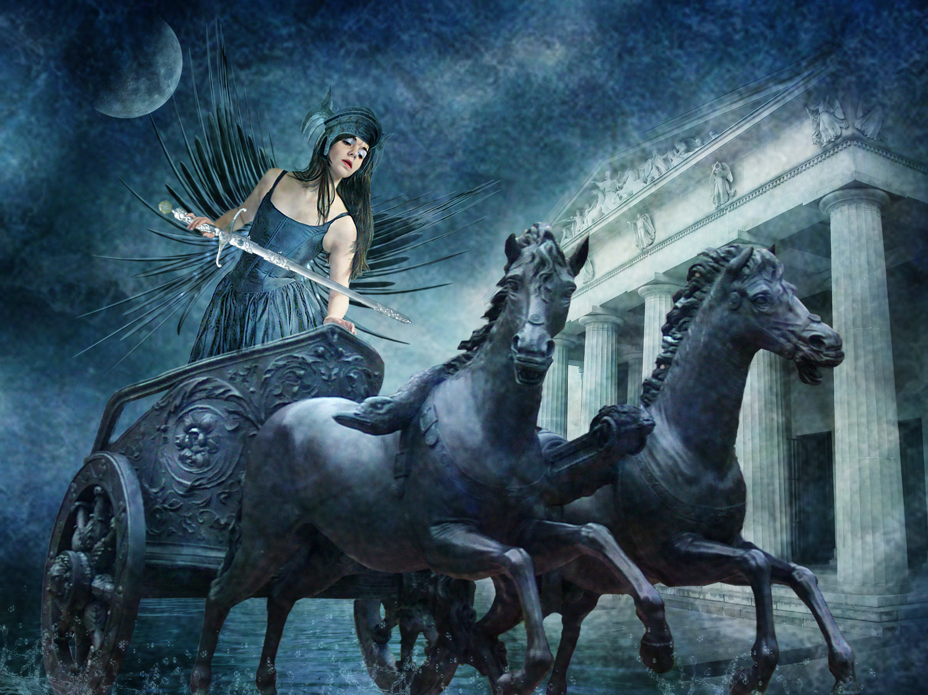 Download Wallpaper Horse Warrior - tumblr_static_nike_goddess_of_victory_by_violscraper  Picture_867353.jpg
