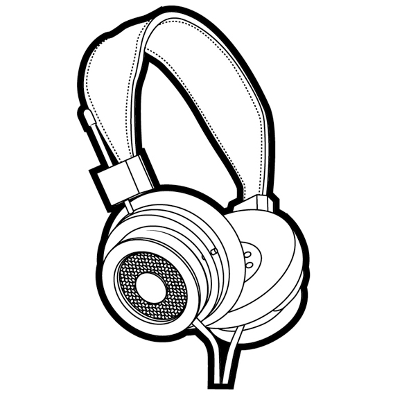 Line Art Headphones : Trigger pulled