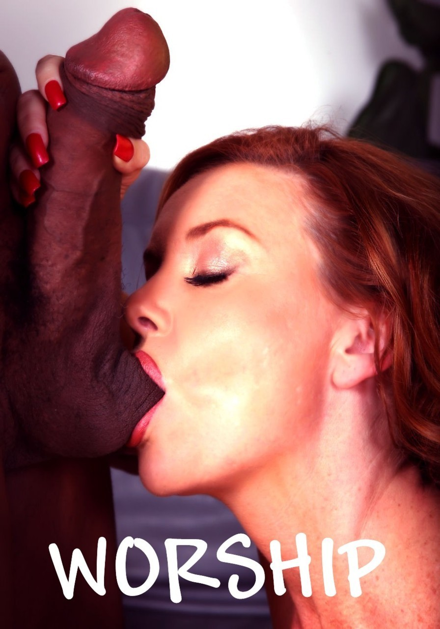 Brunette mature interracial blowjob