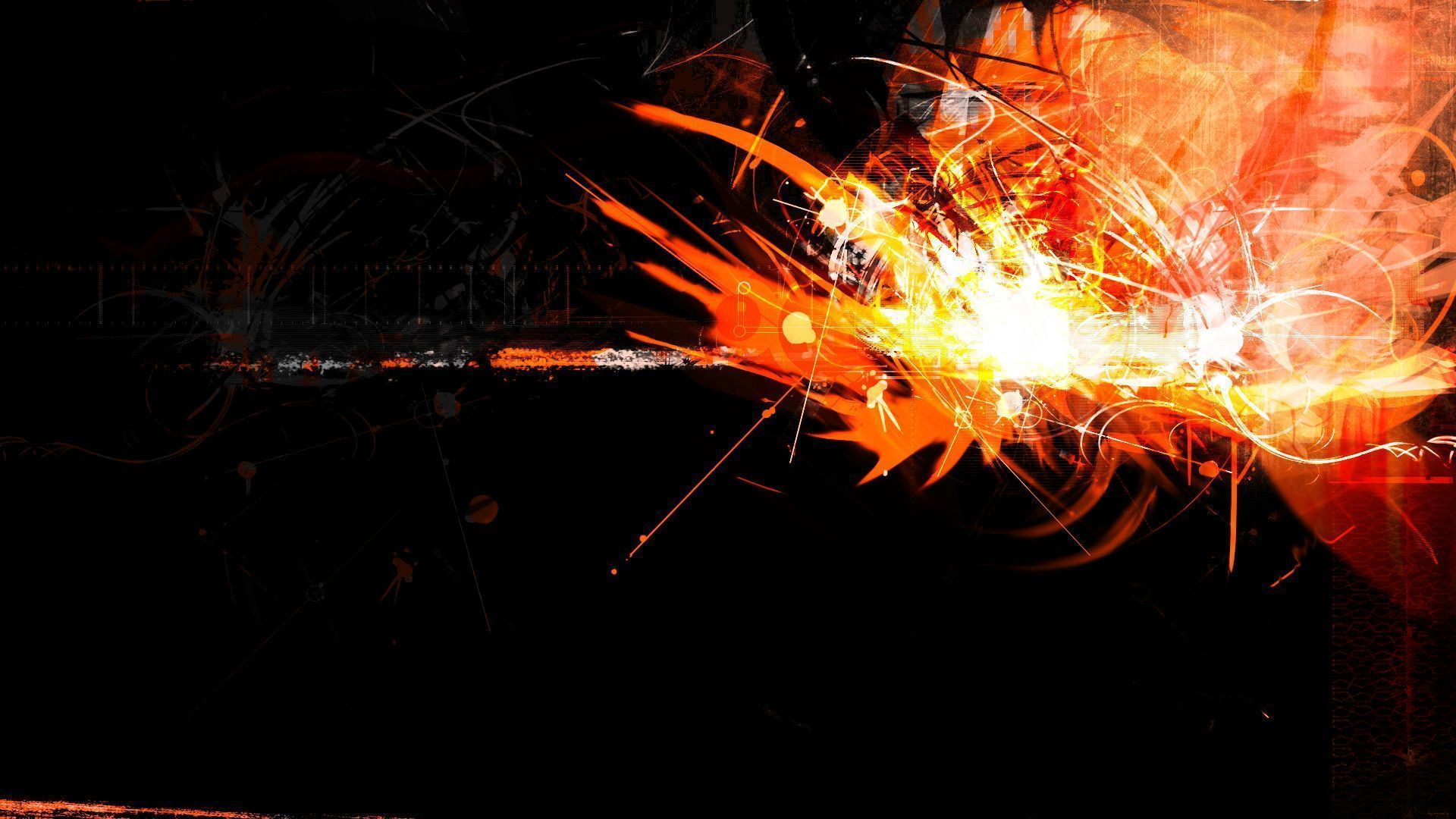Black and orange abstract