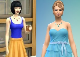 Sims 2 red dress disney