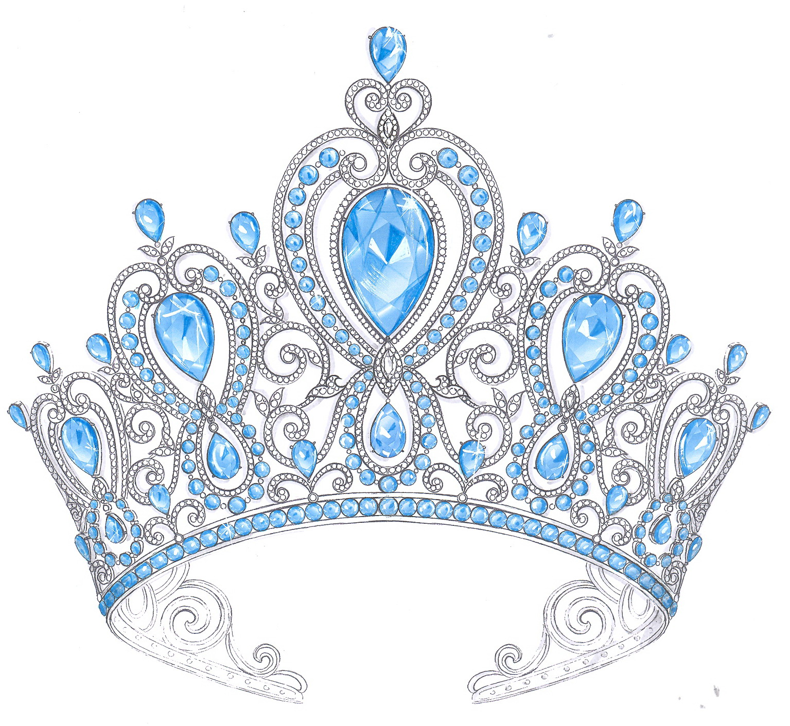 Gold Queens Crowns and Tiaras
