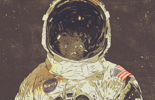 post space related stuff  because that s where my mind seems to be    Retro Astronaut Drawing