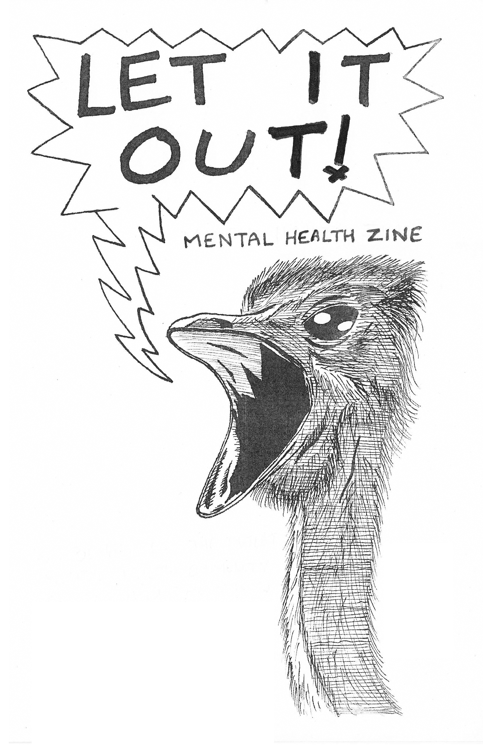 let it out mental health zine mental health zine