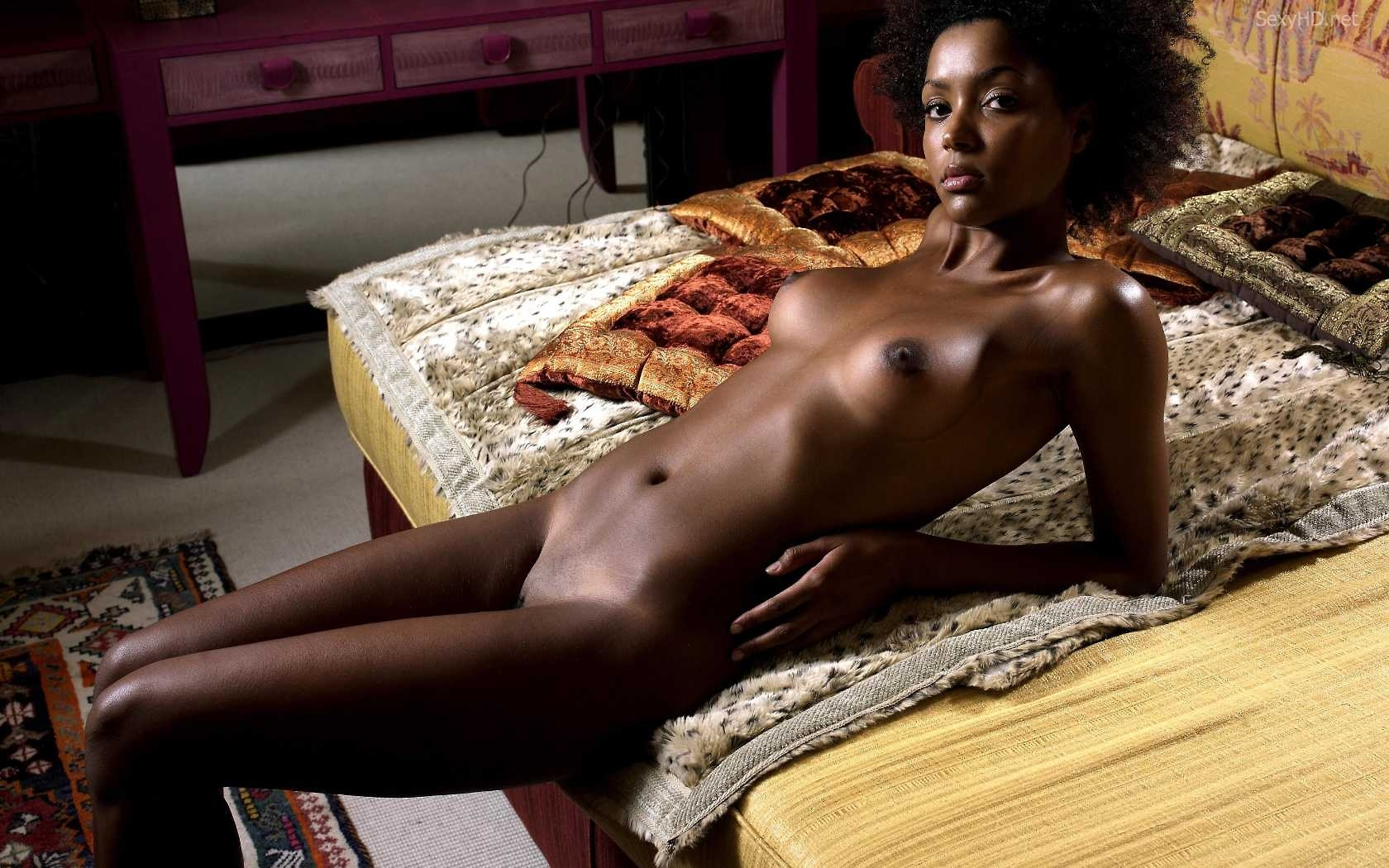 Hot nude black african american woman