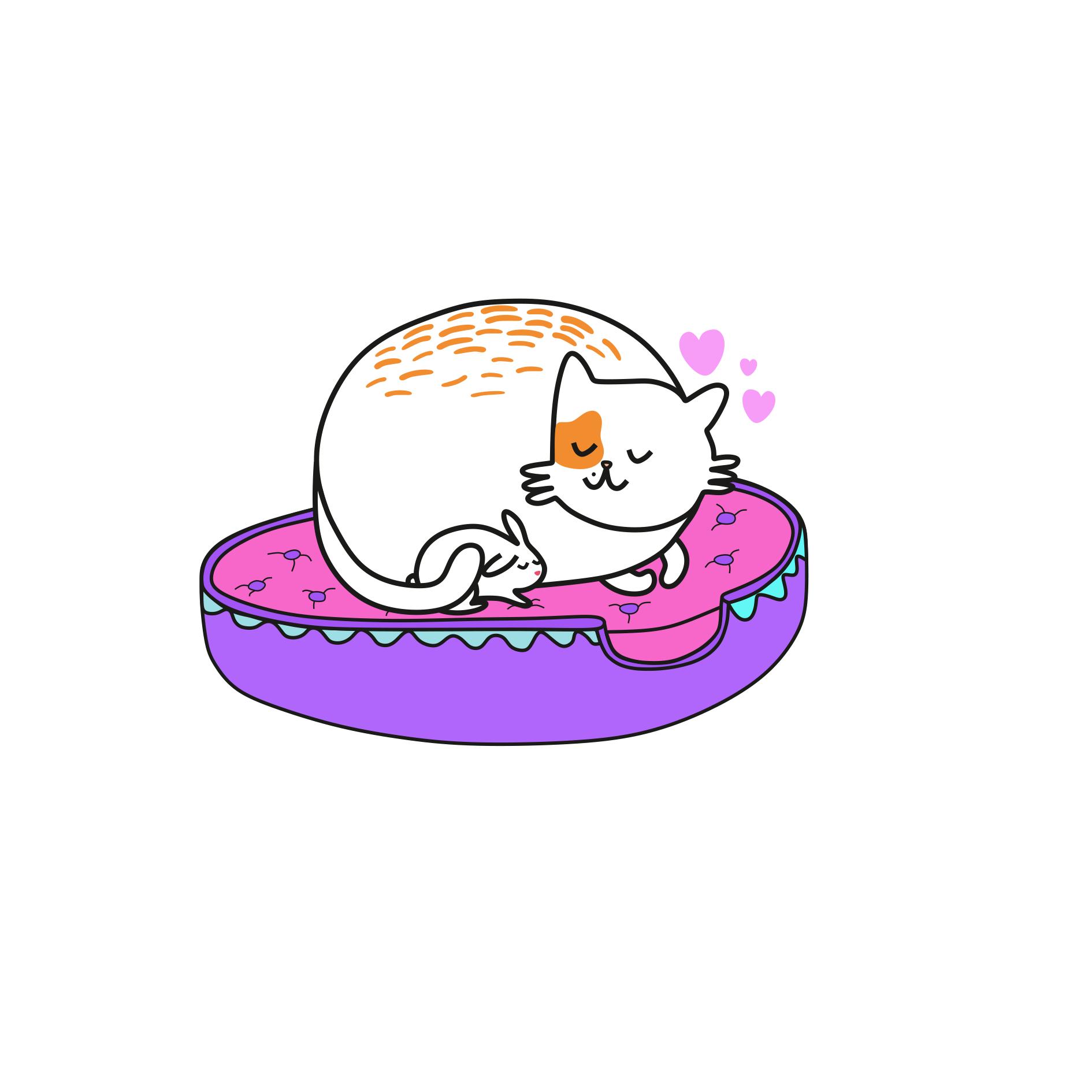 Cat Illustration Tumblr Liza is a lazy cat