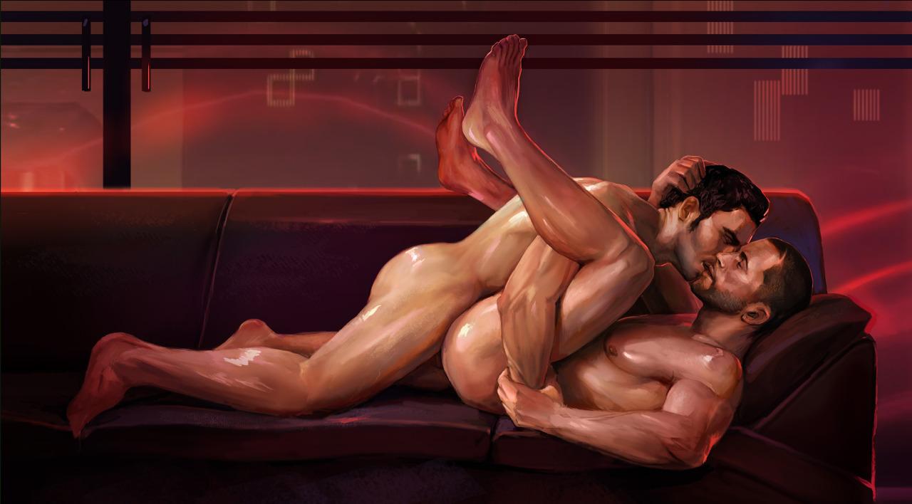 Gay nude fantasy art porn hentai scenes
