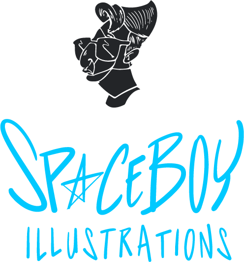 Space Boy Illustrations