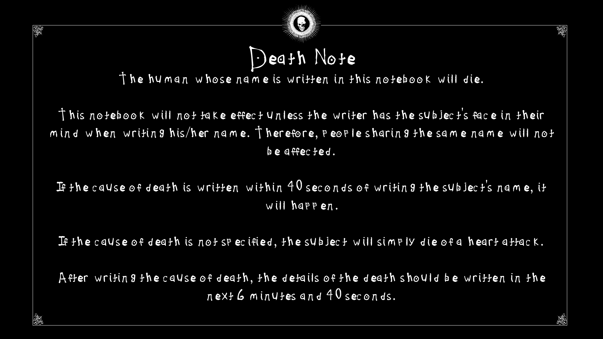 Good Wallpaper Horse Bible Verse - tumblr_static_death_note_wallpaper_by_garonque-d4tai99  Graphic_501382.png