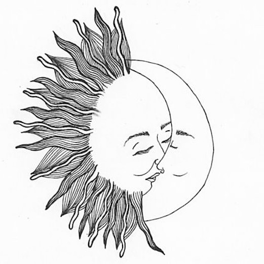 Sun And Moon Sketch Tumblr | www.imgkid.com - The Image ...