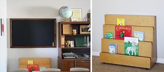 Vintage Classroom Homeschool Blackboard Teal Bird Concepts