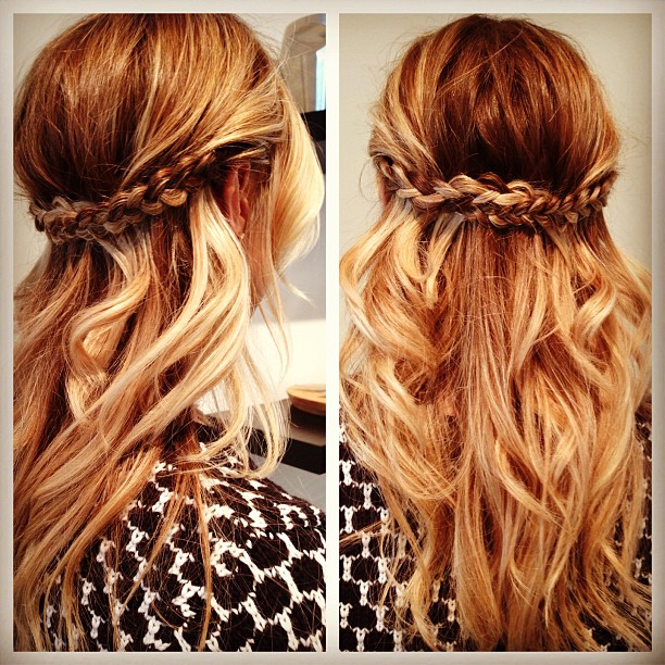 Prom Hairstyles Half Up Half Down with Braid