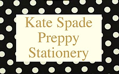 Kate Spade Preppy Stationery