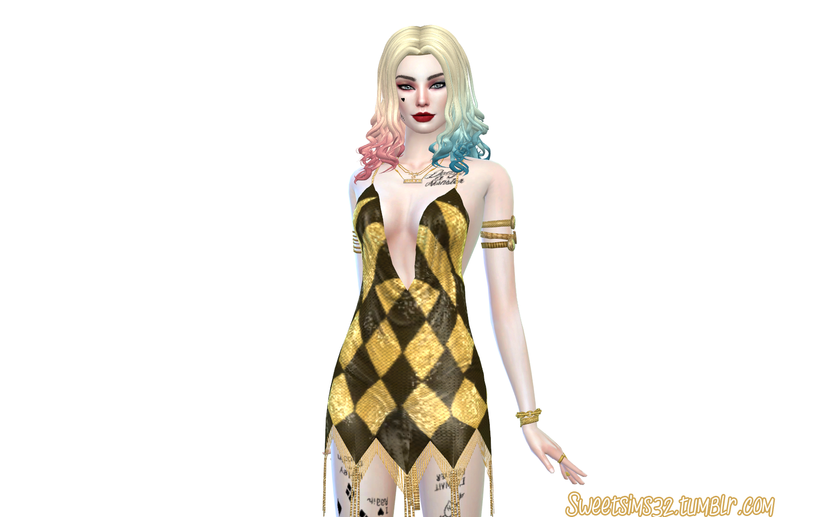 harley quinn hairstyles cc sims 4 newsea hair yu104f retexture and