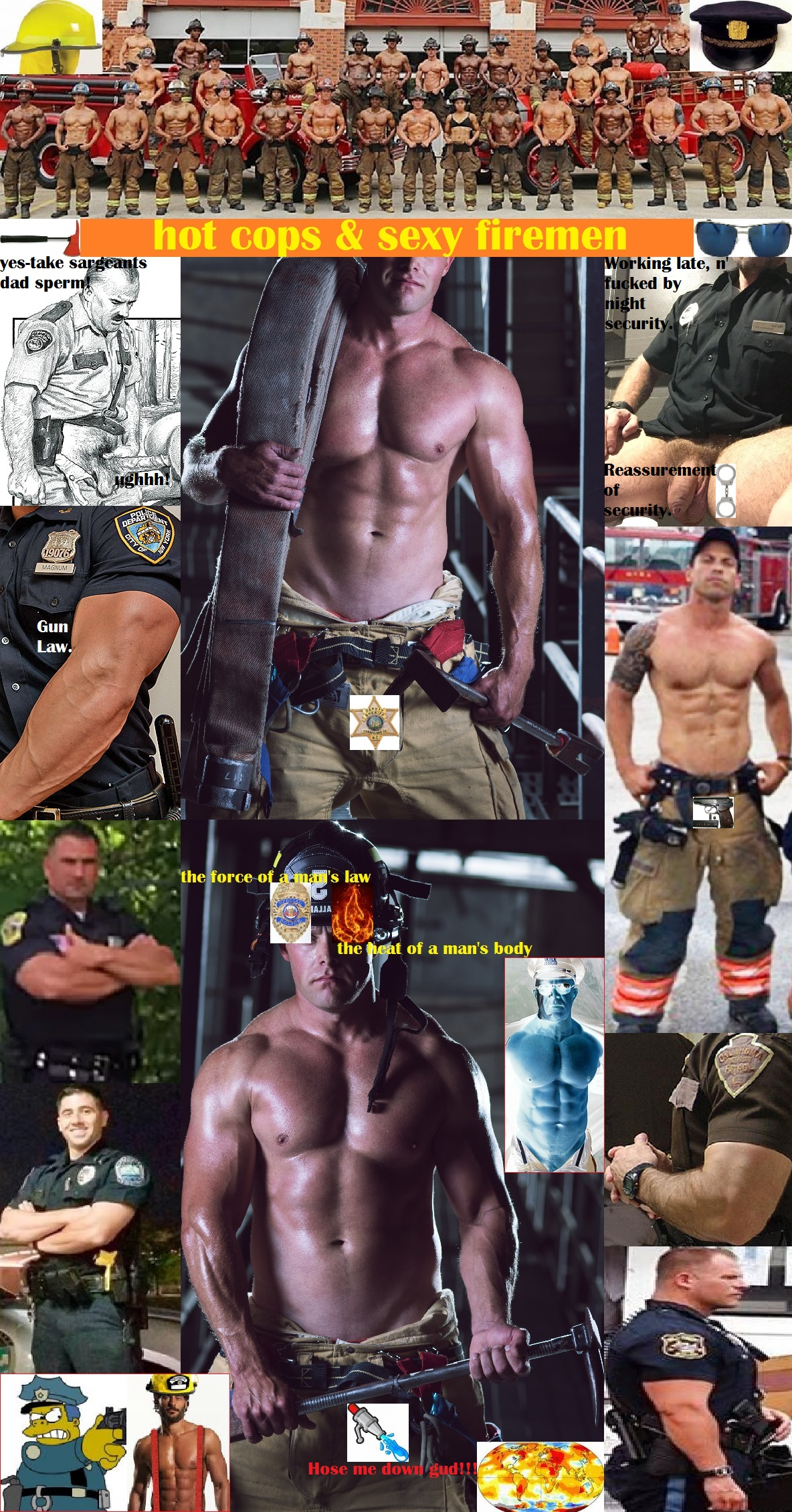 Men naked Sexy firefighters