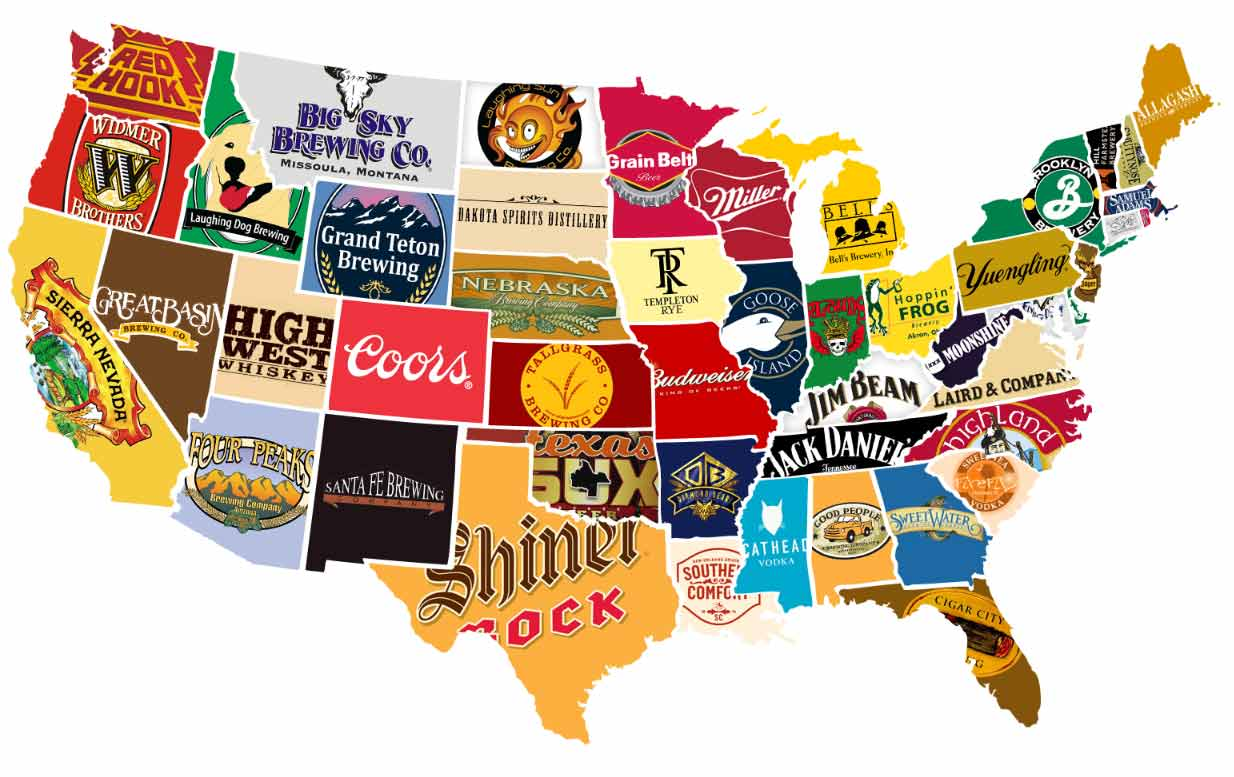 Beers States - Tumblr us map