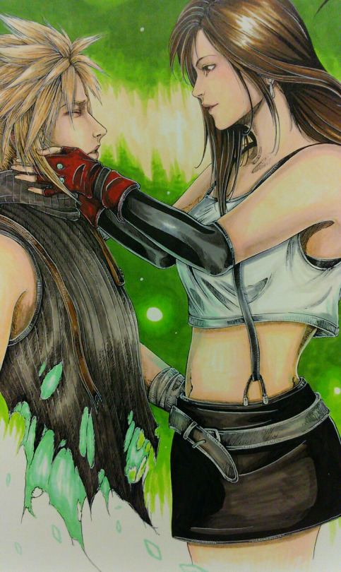 final fantasy advent children cloud and tifa relationship