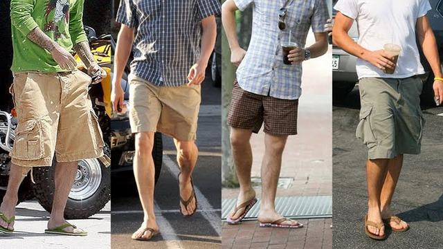 men in flip flops