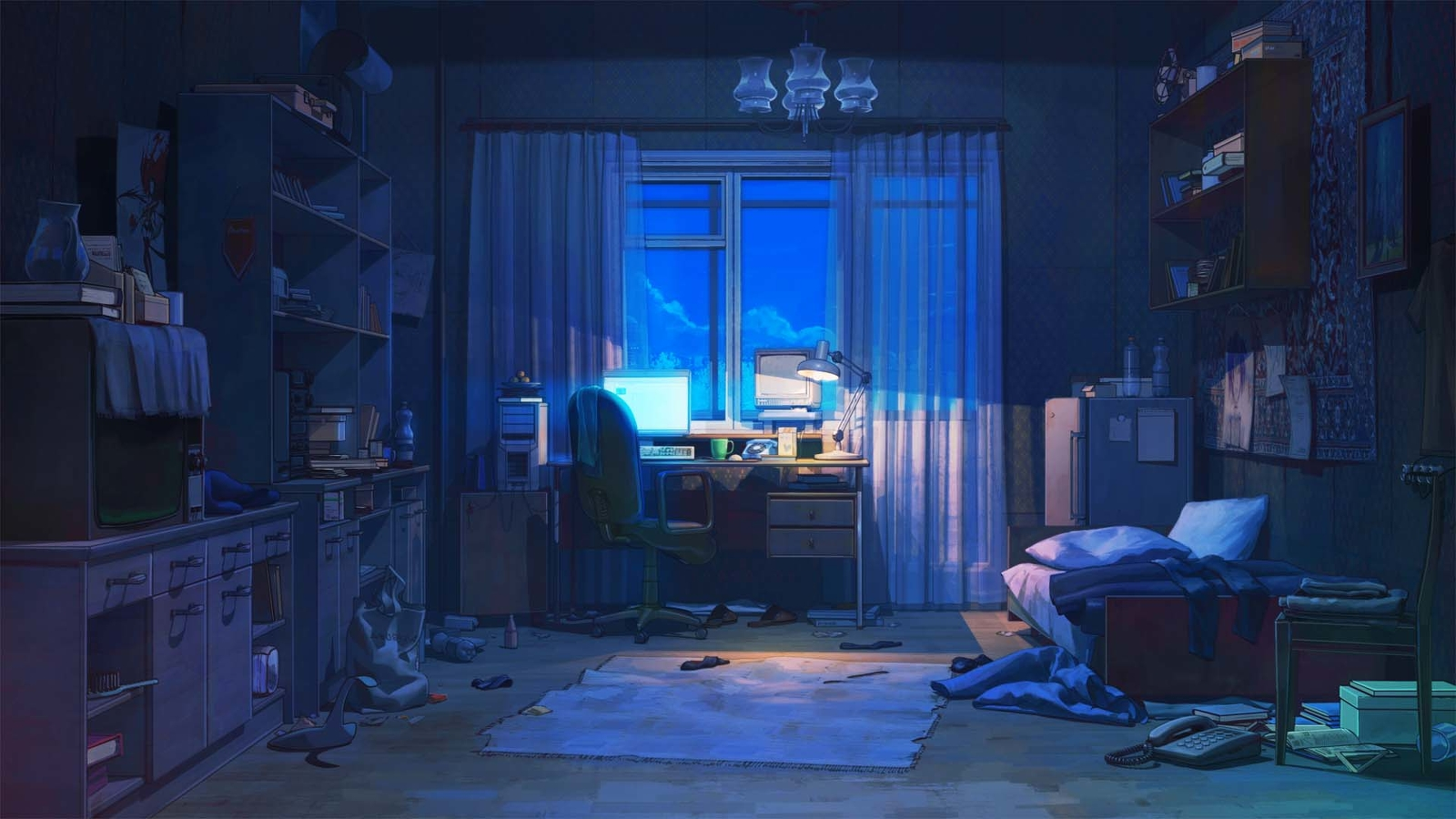 Hisakawa koukou the anime high school for Scenery wallpaper for bedroom