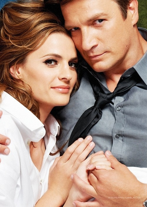 stana and nathan lying down