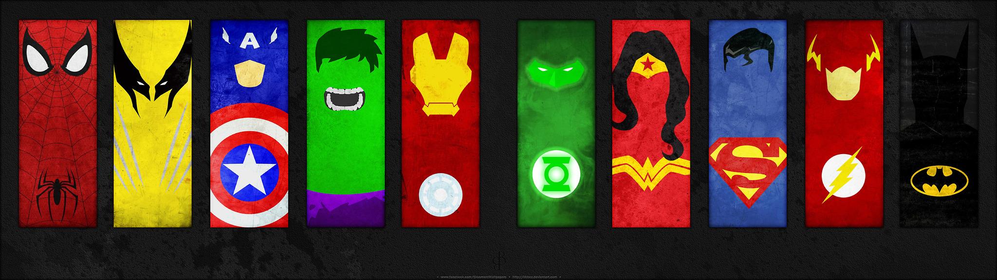 Marvel Superhero Logos Wallpaper