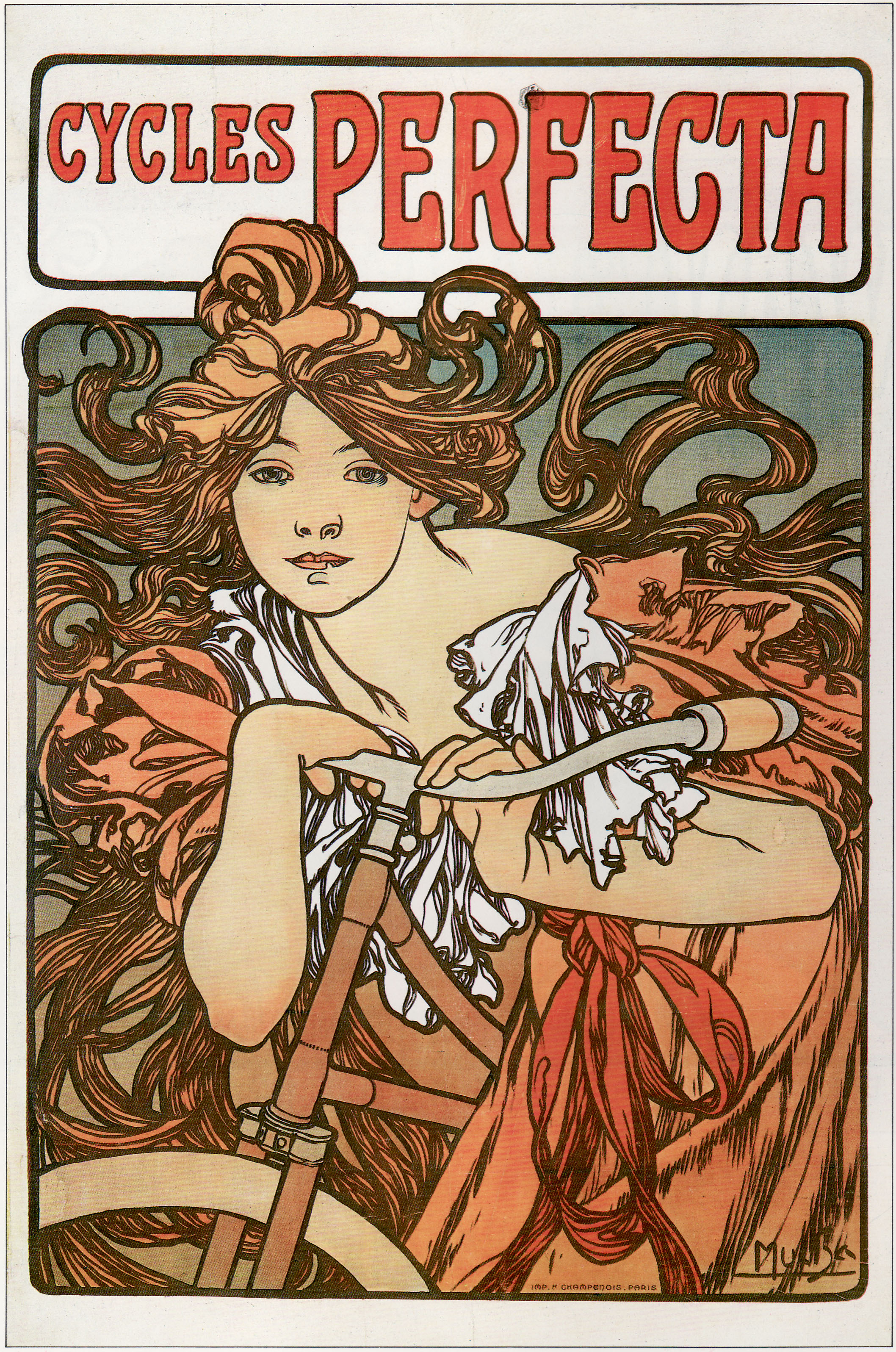 Vintage cycling posters women