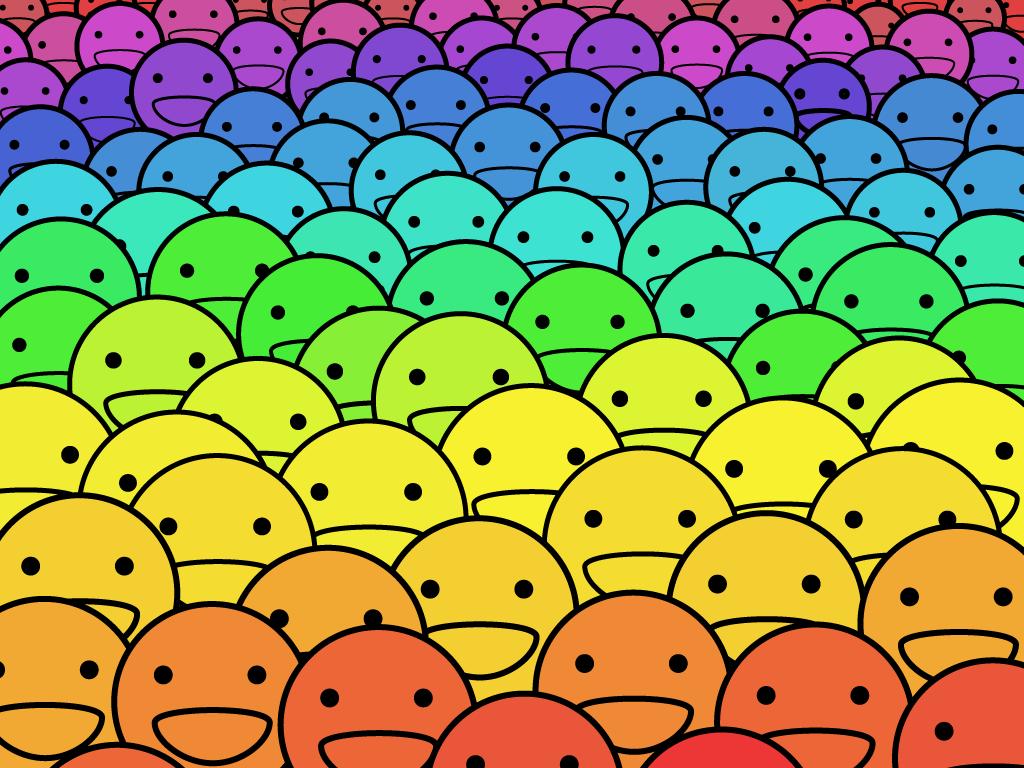 Yellow smile wallpaper