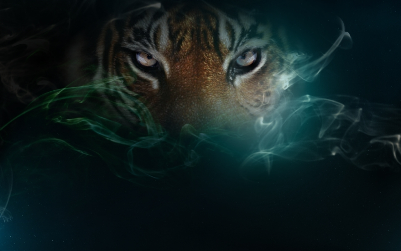 Cool 3d desktop wallpaper tiger