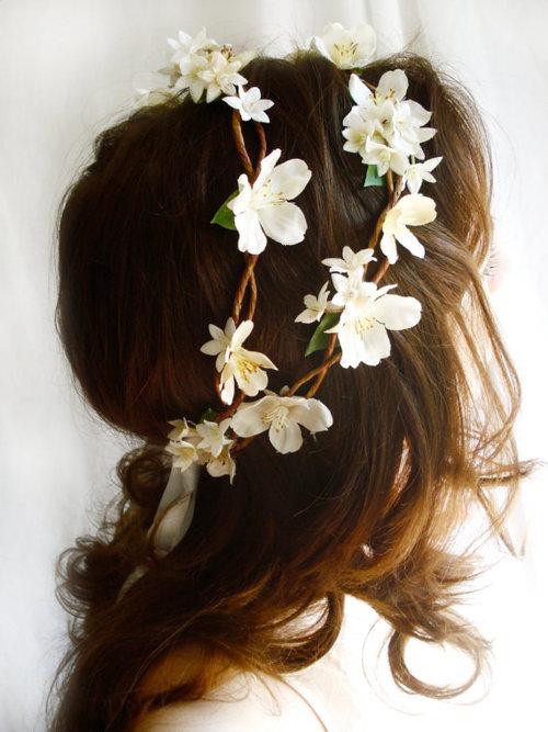 Muito Fashion para meninas: Tiara de flores UD69