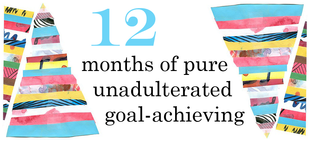 12 months of pure, unadulterated goal achieving.