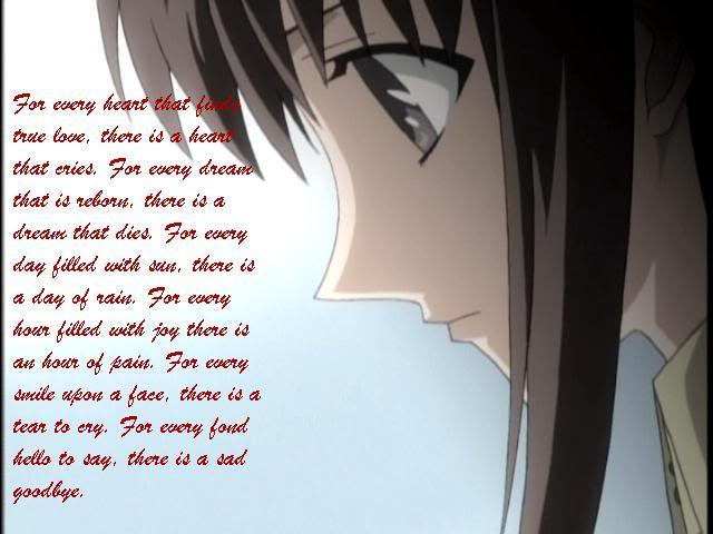 anime sad love quotes