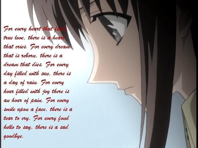 Anime Sad Love Quotes