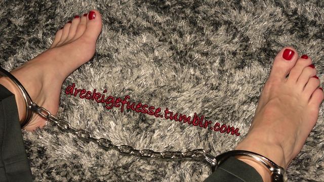 girl Barefoot slave