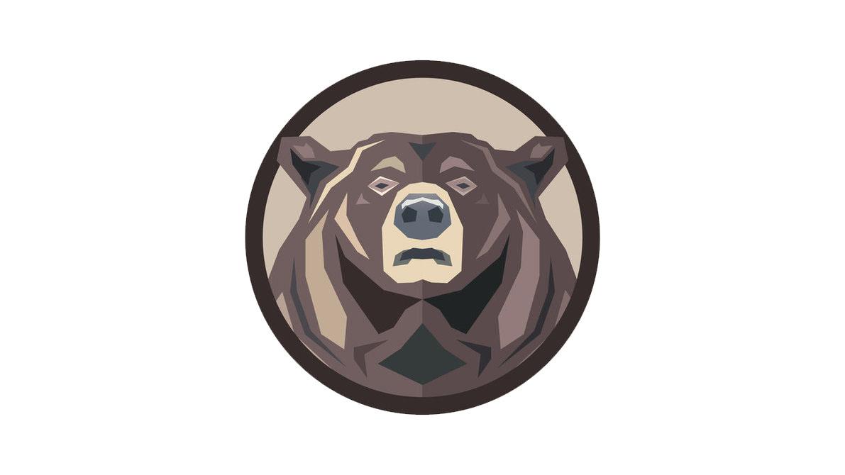 Медведь картинка минимализм