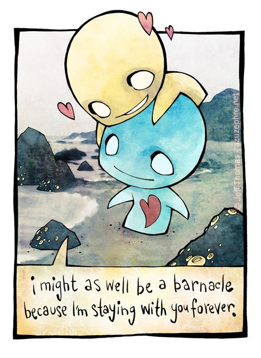 Emo cartoon pon and zi love