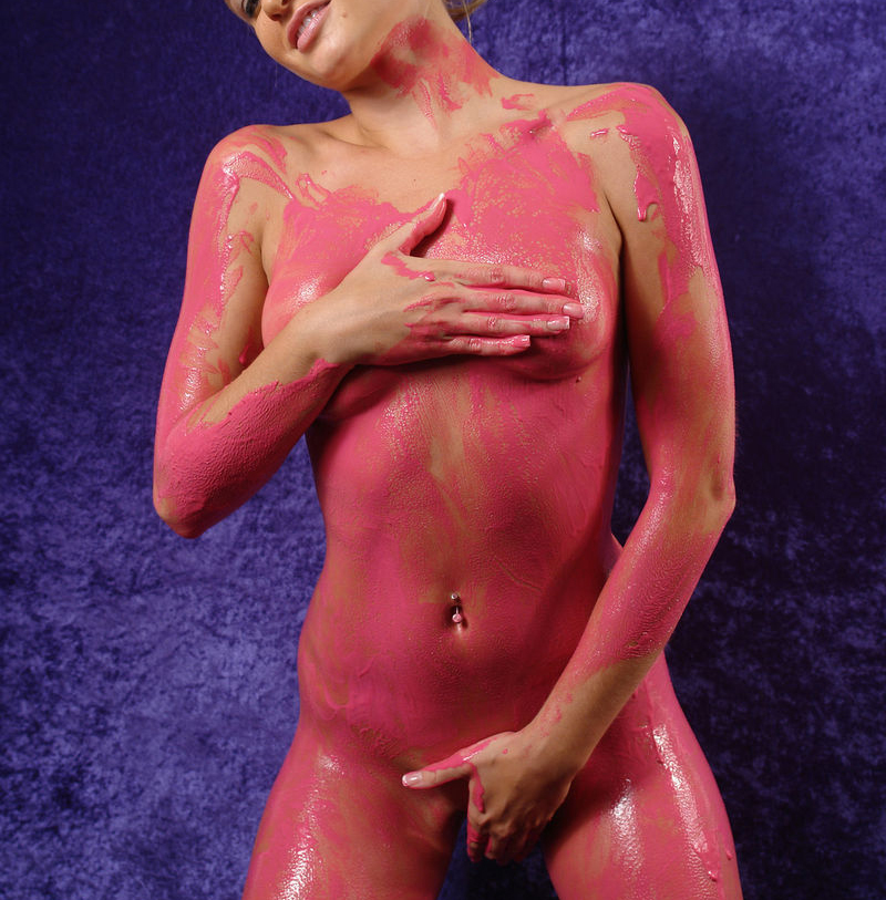Sexy nude body paint