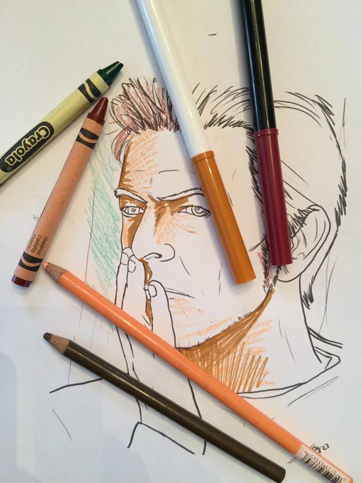 the david bowie coloring book