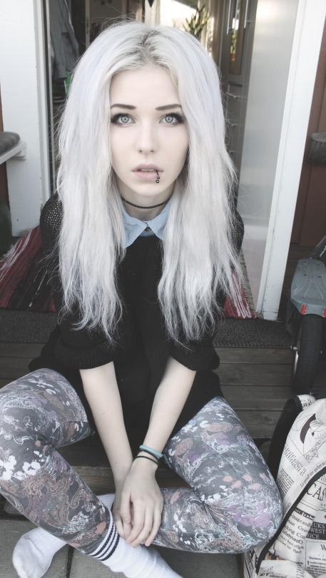 Petite pale white girl