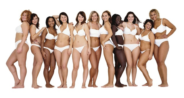 Real women different body sizes