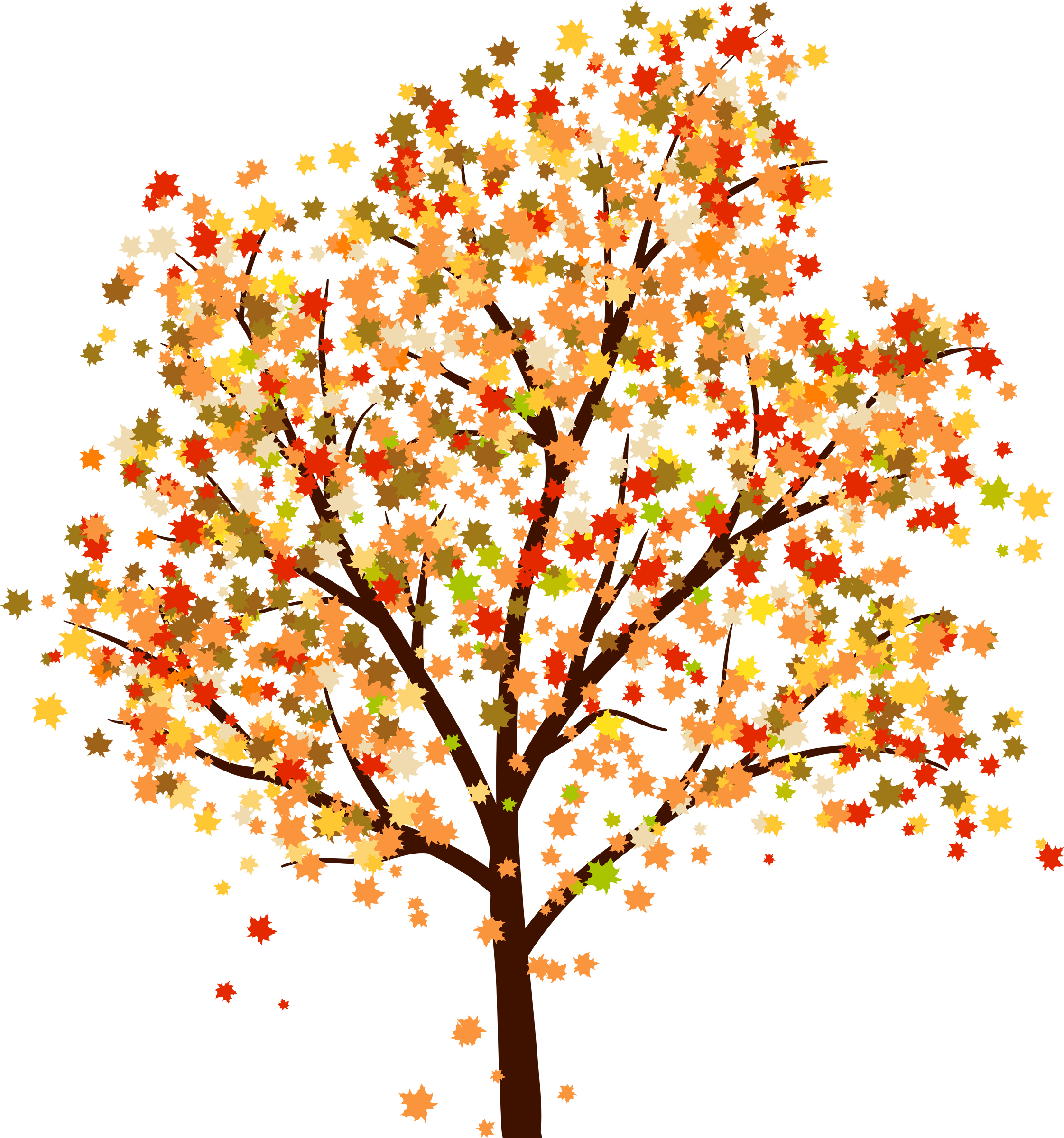 clip art of tree with falling leaves - photo #29