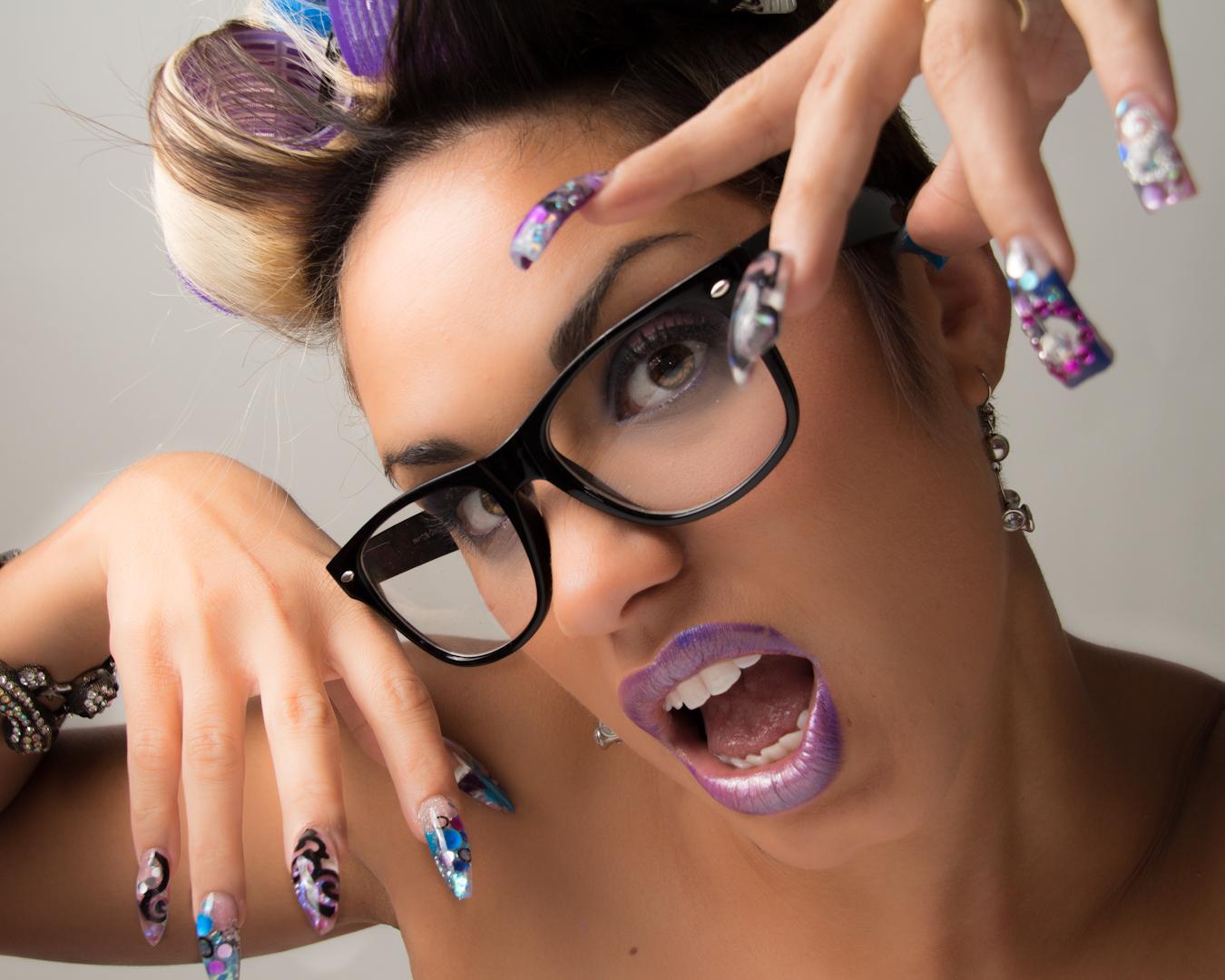Длинные ногти накрашенные фото