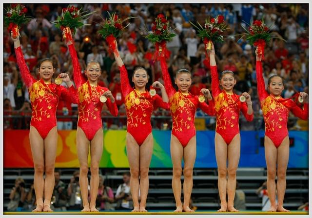 Chinese gymnastics little kids girls