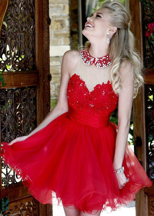 Red Hipster Prom Dress