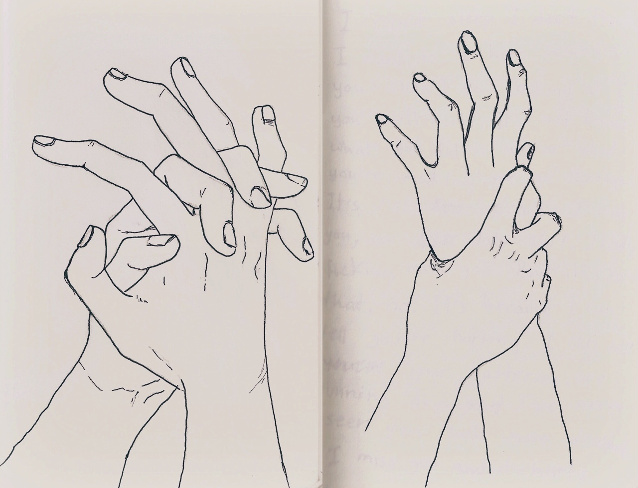 Tumblr Aesthetic Drawing Hands Www Topsimages Com