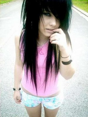 Cute emo hairstyles medium hair