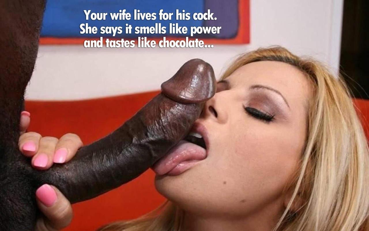 Black cock blowjob captions