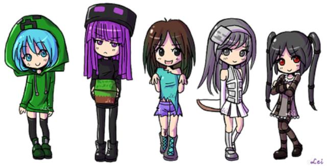 майнкрафт аниме картинки