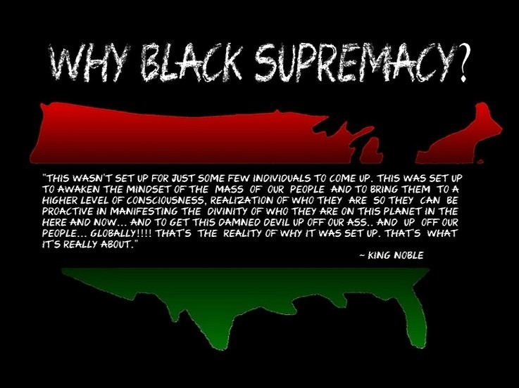 black supremacy essay The civil rights movement black people had long endured a physical and social landscape of white supremacy black is a country.